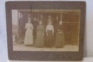 """Vintage Antique Family Photo Late 1800's The Clarence Barton Family 8"""" x 7"""""""