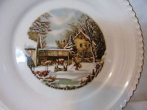 CURRIER & IVES PLATE \