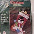 """Christmas FELT STOCKING KIT BUCILLA Stocking Kit """"HOLIDAY PALS"""" #33050 15"""""""