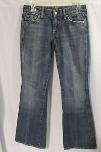 7 for all MANKIND Jeans Women's Size 27  Pocket Mid Rise Boot Cut Medium Wash