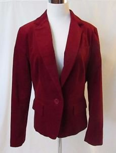Talbots Red Blazer Women's 12 Single Button Front Fully Lined Pockets BEAUTIFUL!