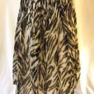Talbots Petites Animal Print  Skirt Women's 6P Pleated Lined Light Weight