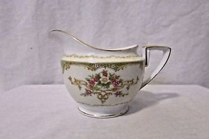 Antique Noritake Creamer, Cream and White With Gold Accents Floral. Japan