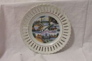Vintage California Souvenir Plate 6 1/4� Diameter Made in Japan Lace Edge