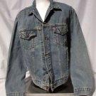 Vintage Denim Classic Levi's Jean Jacket Men's Large Distressed  #70507-0389
