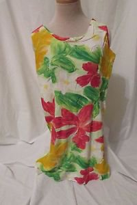 Jam's World Sleeveless Sun Dress Women's Small  Zipper Back  Hawaiian