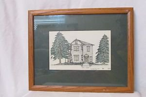 Art Drawing Framed By Chuck Forsman Jubilee Day 1997 Copy No. 383.