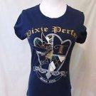 Tinker Bell T shirt Women's Medium Blue  PIXIE PERFECT Disney Peter Pan