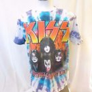 KISS  The Band Men's Large Tye Dye Tour Tee  The Hottest Show On Earth!!!!
