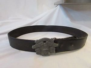 Harley Davidson Leather Belt with Eagle on a Metal buckle Made In USA
