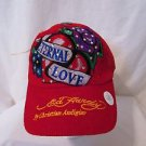 Ed Hardy Baseball Cap Snapback Eternal Love With Roses Rhinestones Hat