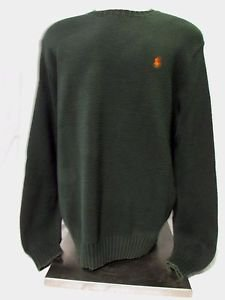 Ralph Lauren Polo Crew Neck Sweater Men's Large   Green Classic Pullover