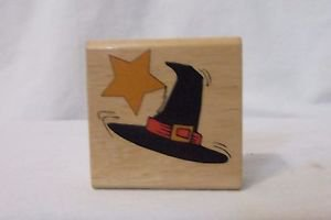 Rubber Stamp Halloween Witches Hat Canadian Maple Collections  #STP X3001  New