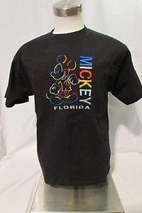 Mickey Mouse T Shirt Large Short Sleeve Embellished Black Crewneck