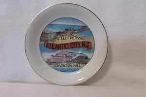Vintage Atlantic City NJ Souvenir Saucer Made In Japan