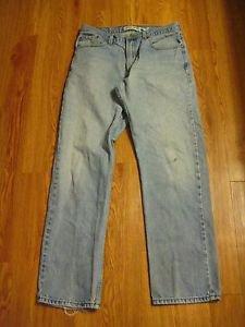 Levi's 505 Men's  Jeans 34 x 34 Regular Fit  Jean's 100% Cotton Distressed