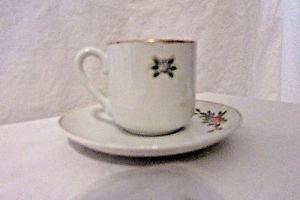 Antique Occupied Japan Demitasse Miniature  Cup And Saucer Set Bone China