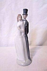 "LLADRO ""JUST MARRIED"" NAO PORCELAIN WEDDING FIGURINE BRIDE & GROOM 6"" TALL"