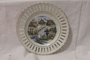 Arizona Souvenir Plate 6 1/4� Diameter  Lace Edge Collectible Plate Vintage