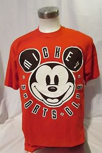 All Mickey Sport Club T-Shirt Adult Short Sleeve Red One Size Fit