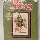 Begonia Embroidery Crewel Kit Vintage Jeffy Stitchery By Charlene Gerrish