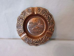 Vintage Seaworld Orlando Copper Ashtray 1980 Vintage Souvenir