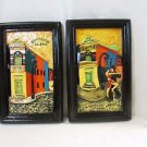 Set Argentinian Art Pottery Ceramic Wall Hanging Decor, Made By Dach
