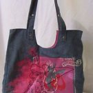 TINKERBELL Denim Shoulder Bag Tote Handbag Satchel Travel Tote Bag Walt Disney