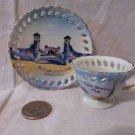 Vintage Daytona Beach FL Mini Tea Cup and Saucer Set Made In Japan Souvenir