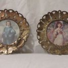 Vintage Brass Butterfly Frame Blue Boy Pinkie Made in England Retro Metal Old