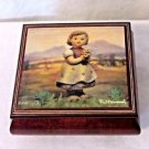 "Hummel Music Box Wood Made in Italy Plays ""O Sole Mio"" M.J. Hummel ARS"