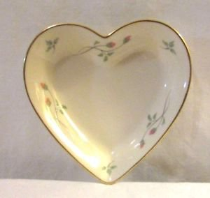 Lenox China Rose Manor Heart Dish Hand Decorated with 24k gold