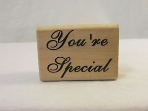 "Rubber Stamp ""You're Special""  Wood Mount RUBBER STAMP Small New Scrap Booking"