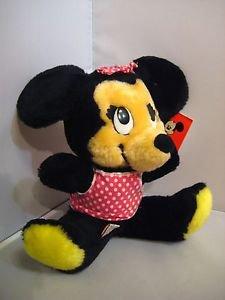 Minnie Mouse VINTAGE RARE Doll Bean Bags Stuffed Plush Tag( KOREA)   Disney