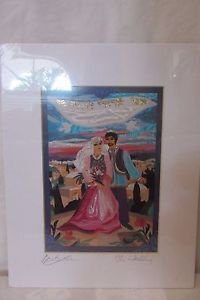Matted Print Signed By Bracha Lavee The Wedding She Is A Artist From Israel
