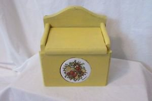 Vintage Painted Recipe Box Shabby Chic Beach Cottage kitchen Distressed File Box