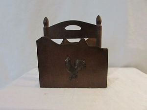 Tilso Vintage country Napkin Holder with copper rooster. Made in Japan