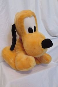 "Pluto Large 14"" Tall Disney Sitting Plush Toy Walt Disney World CUTE!!!!"