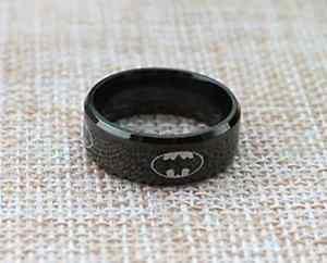 Classic Stainless Steel Batman Comic Ring For Men & Women