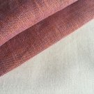 "*WATER STAINED* 58"" Cross Dye Purple Orange 100% Linen Woven Fabric By the Yard"