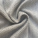 "60"" Gray & White Rayon Herringbone Medium Weight Woven Fabric By the Yard"