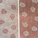 "60"" Red & White Inverse Double Sided Rose 100% Linen Fabric By the Yard"