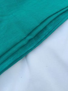 """60"""" Linen & Rayon Blend Blue Green Turquoise Teal Woven Fabric By the Yard"""