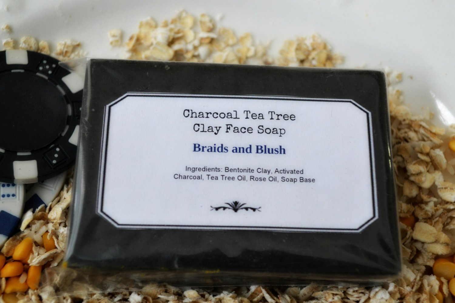 Detoxing and Clearing Tea Tree and Activated Charcoal Soap/Acne/Blemishes/BackAcne