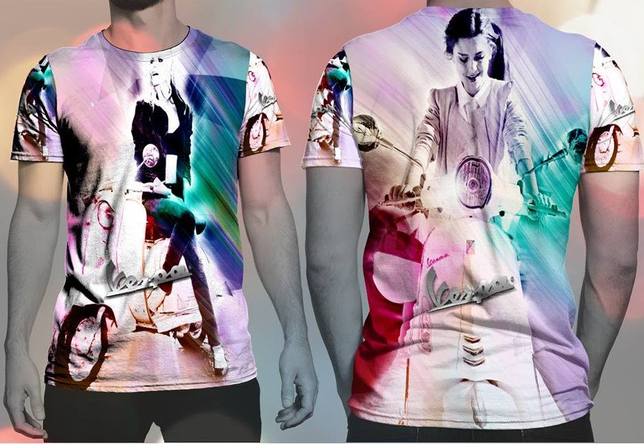 Scooterist T-shirt Full Print Sublimation For Women Size M