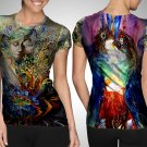 Psychedelic Art Camiseta T-shirt Full Print Sublimation For Women Size S