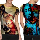 Tupac Amazing Cool Design T-shirt Full Print Sublimation For Woman Size S