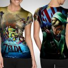 The Legend Of Zelda Series T-shirt Full Print Sublimation For Woman Size S