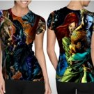 Aquaman Justice League T-shirt Full Print Sublimation For Woman Size S