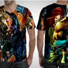 Aquaman Justice League T-shirt Full Print Sublimation For Man Size S